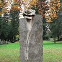 Granit Stele Grabstein Rose - Casina